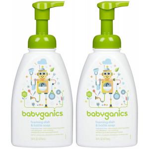 Babyganics Foaming Dish and Bottle Soap - Fragrance Free - 16 oz - 2 pk