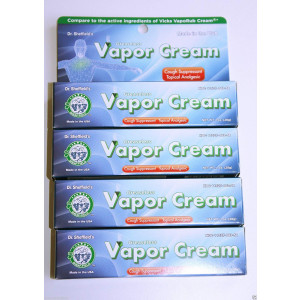 (Lot of 4) Dr. Sheffield's Greaseless Vapor Cream Cough Suppressant 1 Oz Each Fast Shipping