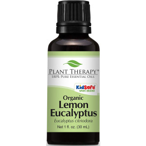 Plant Therapy USDA Certified Organic Eucalyptus Lemon Essential Oil. 100% Pure, Undiluted, Therapeutic Grade . 30 ml (1 oz).