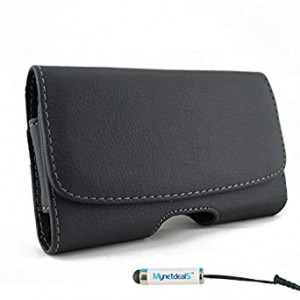 MyNetDeals MyN-8875 Horizontal Leather Case Pouch Holster for Apple iPhone 6/6S/7/8 (4.7-Inch) with Magnetic Closure with Belt Clip,Belt Loops and Mini Touch Screen Stylus
