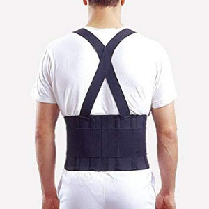 """Therapist's Choice Industrial Double Pull Back Support with Shoulder Straps (X-Large (36""""-47"""" Waist))"""