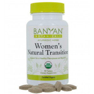 Banyan Botanicals Women's Natural Transition - USDA Organic, 90 tablets - Cooling and Soothing - Herbal Hotflash Relief For Menopause*