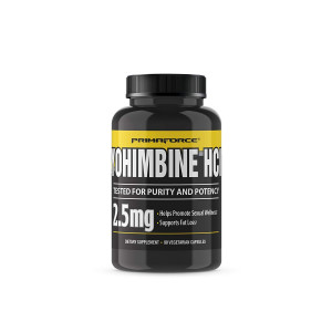 PrimaForce Yohimbine HCl, 90 Count 2.5mg Capsules - Weight Loss Supplement  Supports Fat Loss, Boosts Metabolism