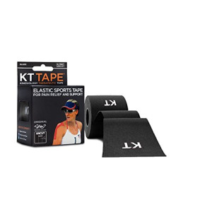KT Tape Kinesiology Sports Tape, Original Cotton Elastic, 16 ft Uncut Roll, Breathable, Latex Free, Pro and Olympic Choice