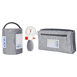 MDF Airius Palm Aneroid Sphygmomanometer - German Made Professional Blood Pressure Monitor with Adult Sized Cuff Included - Full Lifetime Warranty and Free-Parts-For-Life - Grey (MDF848AR-12)