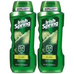 Irish Spring Body Wash, Aloe, 18oz, 2pk