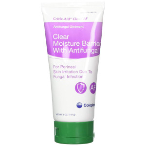 Critic-Aid Clear Antifungal Moisture Barrier Ointment - 5 Ounce Tube - Pack of 2