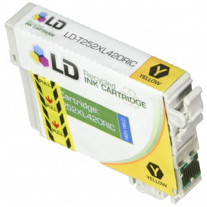 LD Products Remanufactured Ink Cartridge Replacement for Epson 252 ( Yellow )