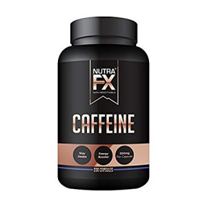 NutraFX Caffeine Pills 200mg Natural Energy and Focus Stimulant Stay Awake Pills 100% Pure Anhydrous Caffeine Powder | Energy Booster Mental Alertness and Thermogenic Fat Burner (200 Capsules)