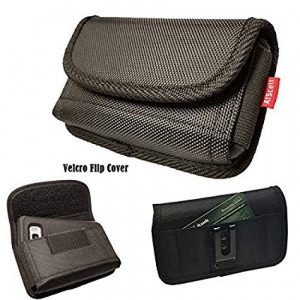 For Samsung Galaxy Note 8 ,S8 Plus, S9 Plus, J7 Perx , J7 V~Super Large Holster Duty Nylon Pouch Side Wallet Card Slot Belt Clip Case 7.00X4.00X1.00 Inches ( Great Fits Thick Hybrid Dual Layer Cover )