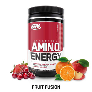 OPTIMUM NUTRITION ESSENTIAL AMINO ENERGY, Fruit Fusion, Preworkout and Essential Amino Acids with Green Tea and Green Coffee Extract, 30 Servings