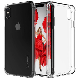 Luvvitt iPhone Xs Max Case [Clear Grip] Soft Slim Flexible TPU Back Cover Transparent Rubber Case Apple iPhone Xs Max 6.5 inch 2018 - Crystal Clear