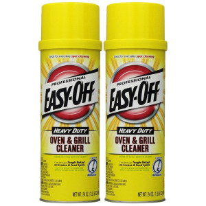 Easy Off Professional Oven and Grill Cleaner Aerosol, 24 oz, Pack of 2