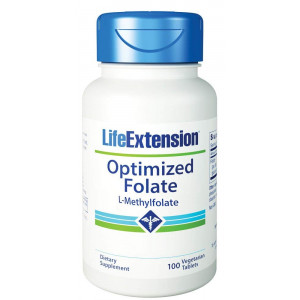 Life Extension Optimized Folate (L-Methylfolate) 1000mcg, 100 Vegetarian Tablets
