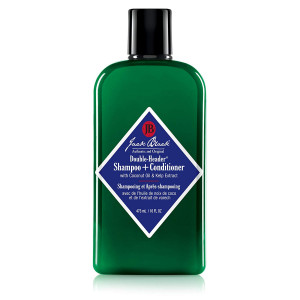 JACK BLACK  Double-Header Shampoo + Conditioner  PureScience Formula, Coconut Oil and Kelp Extract, Sulfate-Free, Removes Oil and Product Buildup, Lightly Conditions and Soothes, 16 oz.