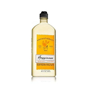 Bath and Body Works Aromatherapy Happiness Bergamot and Mandarin Body Wash and Foam Bath 10 ounces