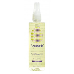 Aquinelle Toilet Tissue Mist, Eco-Friendly and Non-Clogging Alternative to Flushable Wipes Simply Spray On Any Folded Toilet Paper (8.25 oz Island Mist)