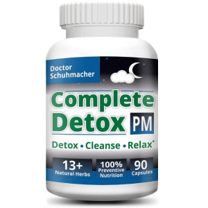 #1 Complete Detox PM - Rapid whole body detox with support for deeper sleep and better relaxation - Colon, Liver, Lymph, Kidney cleanse with Goji berries and 13+ other top quality natural herbs
