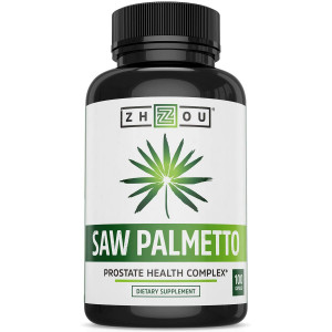 Saw Palmetto Supplement For Prostate Health - Extract and Berry Powder Complex - Healthy Urination Frequency and Flow Formula - May Help Block DHT - 500mg Capsules