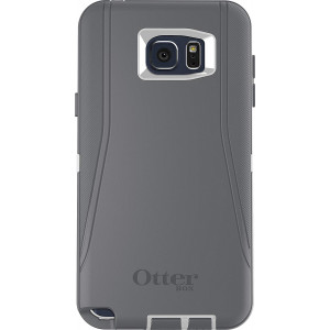 OtterBox DEFENDER Cell Phone Case for Samsung Galaxy Note5 - Retail Packaging - GLACIER (WHITE/GUNMETAL GREY)