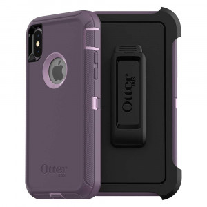 OtterBox DEFENDER SERIES Case for iPhone Xs and iPhone X - Retail Packaging - PURPLE NEBULA (WINSOME ORCHID/NIGHT PURPLE)