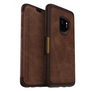 OtterBox STRADA SERIES Case for Samsung Galaxy S9 - ESPRESSO (DARK BROWN/WORN BROWN LEATHER)