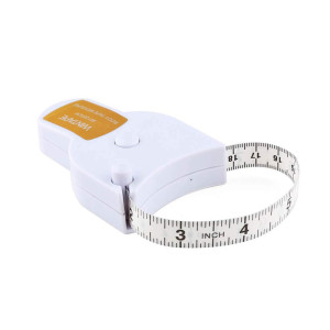 Wintape 80'' 205cm Waist Body Tape Measure with Push Button, Measuring Waist and Arms (White)