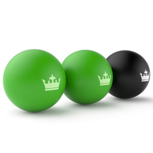 Lacrosse Balls :: New Massage Therapy Yoga Roller Ball for Deep Tissue, Trigger Point and Myofascial Release :: Because You Need the Best Rubber for Back and Foot Massage :: Includes Instruction eBook