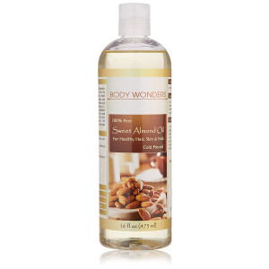 Body Wonders Sweet Almond Oil16 Fl Oz Cold-pressedHexane Free Supports Healthy Hair and Skin