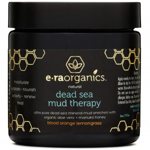 Dead Sea Mud Facial Mask - Spa Quality Exfoliating Face Mask to Cleanse and Minimize Pores, Moisturize, Detoxify and Exfoliate With Manuka Honey, Shea Butter, Hemp Oil, Aloe Vera and More by Era Organics