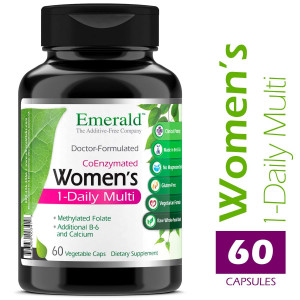 Emerald Laboratories - Women's Multi Vit-A-Min (1-Daily) - Complete Daily with CoEnzymes + Extra Vitamin B6 and Calcium - 60 Vegetable Capsules