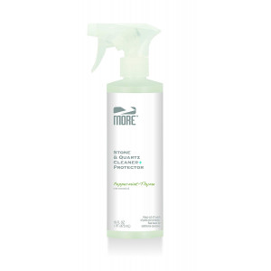 MORE Stone and Quartz Cleaner + Protector - Gentle, Water Based Formula for Natural Stone and Quartz Surfaces [Pint / 16 oz.]