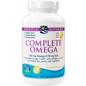 Nordic Naturals - Complete Omega, Supports Healthy Skin, Joints, and Cognition, 120 Soft Gels (FFP)