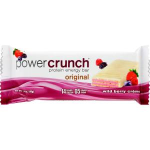 Power Crunch Bar - Wild Berry Cream - Case of 12-1.4 oz - Protein Energy Bar - 14 Grams Protein - 5 Grams Sugar