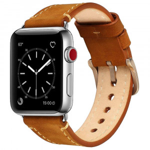 Mkeke Watch Band 38mm/40mm Genuine Leather Compatible with Apple iWatch (Vintage Brown)