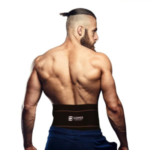 Copper Compression Recovery Back Brace - #1 GUARANTEED Highest Copper Content With Infused Fit. Back Braces For Lower Back Pain. Waist Support Belt and Lower Back Lumbar Wrap For Men and Women. Relief