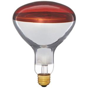 Pyramid Bulbs 64965 Heat lamp bulb 250 Watts R40 Reflector infrared light Red Medium E26 Base Incandescent Heat Lamp Light Bulb