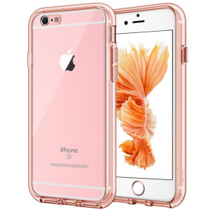 JETech Case for Apple iPhone 6 Plus and iPhone 6s Plus 5.5-Inch, Shock-Absorption Bumper Cover, Anti-Scratch Clear Back, Rose Gold