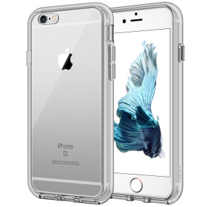 JETech Case for Apple iPhone 6 and iPhone 6s, Shock-Absorption Bumper Cover, Anti-Scratch Clear Back, Gray