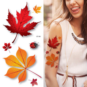 Supperb Temporary Tattoos - 3d Autumn Leaves