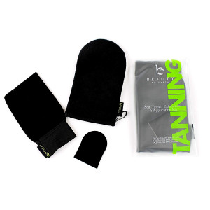 Self Tanning Applicator Mitt; Soft, Double Sided, Washable, Face and Body Tanning Lotion Applicator Glove Kit. Exfoliating Mitt, Face and Body Applicator Mitts; For a Streak Free Sunless Bronze