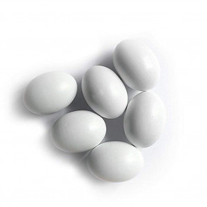 6Pcs Wooden Faux Fake Eggs,Easter Eggs,Children Play Kitchen Game Food Toy - White Color