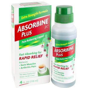Absorbine Jr. Pain Relieving Liquid |Relieves Sore Muscles and Arthritis Pain | Non-Greasy and Fast Absorbing | 4 oz.
