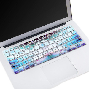"Masino Silicone Keyboard Cover Ultra Thin Keyboard Skin for MacBook Air 13"" MacBook Pro with or without Retina Display 13""15"" 17"" Apple Wireless Bluetooth Keyboard MC184LL/B (Galaxy)"