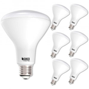 Sunco Lighting 6 Pack BR30 LED Light Bulb 11 Watt (65 Equivalent) Flood Dimmable 3000K Kelvin Warm White 850 Lumens Indoor / Outdoor 25000 Hrs For Use In Home, Office And More UL and ENERGY STAR LISTED