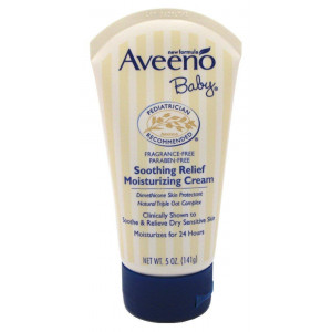 Aveeno Baby Soothing Relief Moisturizing Cream, 5 Ounces (Pack of 2)