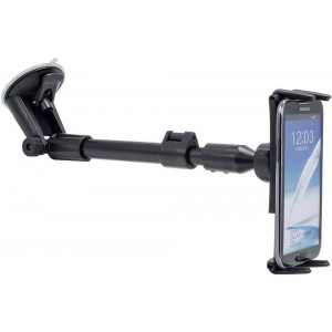 """Digitl Car Mount, Premium Windshield Car Phone Mount for Samsung Galaxy S9 S8 S7 Plus, Note 8 9, Tab A E 5 4 S3 S4 (All 5-8"""") Tablet/Phones w/AntiVibration Swivel Holder and Adjustable Arm Extension"""