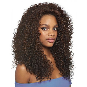 DOMINICAN CURLY BUNDLE HAIR (1B Off Black) - Outre Batik Quick Weave Synthetic Half Wig