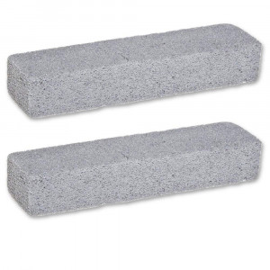 Pumice Cleaning Stone Set -- 2 Scouring Sticks (Heavy Duty Toilet Bowl Cleaner)