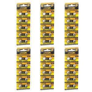 HyperPS (60 pcs) AG3 Alkaline 1.5V Button Cell Battery Single Use LR41 192 SR736 V36A 384 SR41SW Watch Toys Remotes Cameras